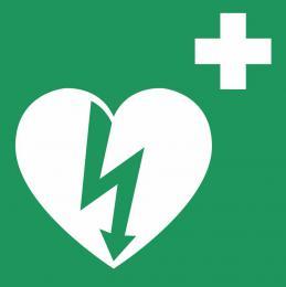 Tabulka AED srdce malá